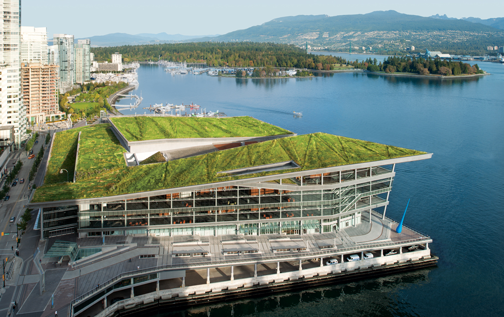 Vancouver has the world's only convention centre to receive the top-level LEED (Leadership in Energy and Environmental Design) Platinum certification for environmental sustainability.