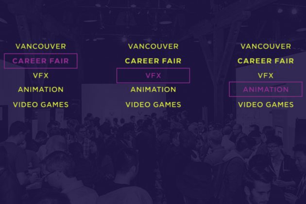 Vancouver Career Fair for Visual Effects (VFX), Animation, and Video Games. Produced by the Vancouver Economic Commission. May 16.