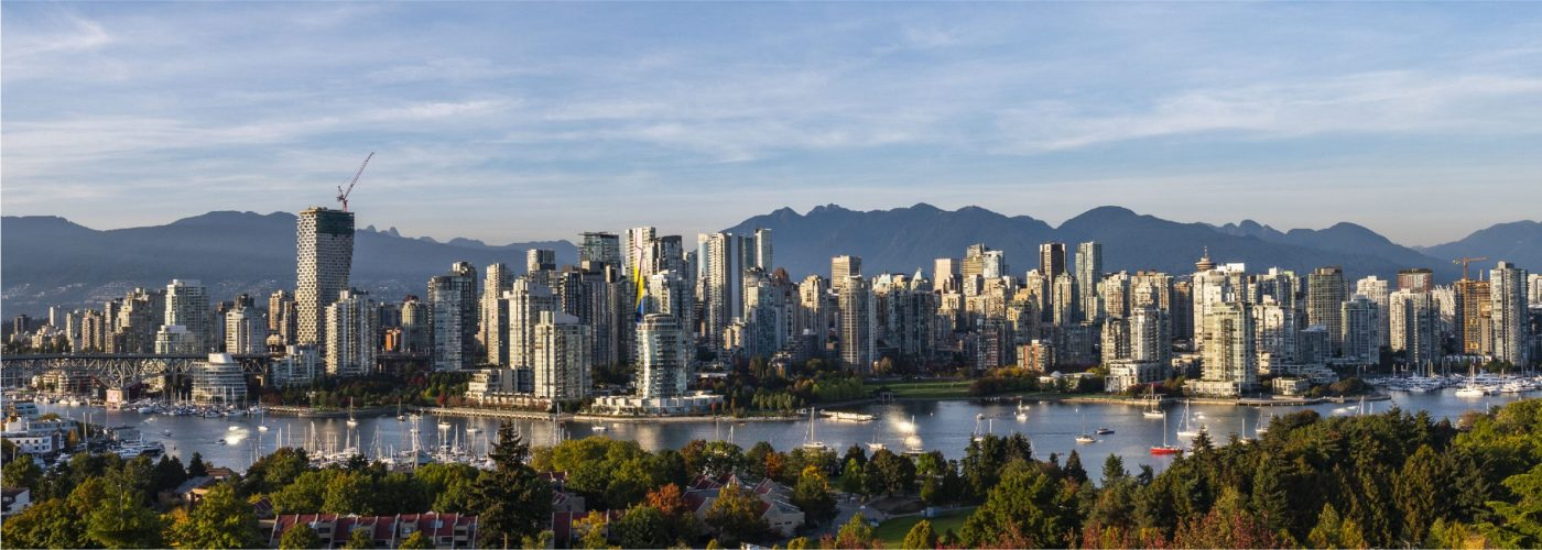 Meet Vancouver - Vancouuver city skyline with blue sky. Source: Tourism Vancouver